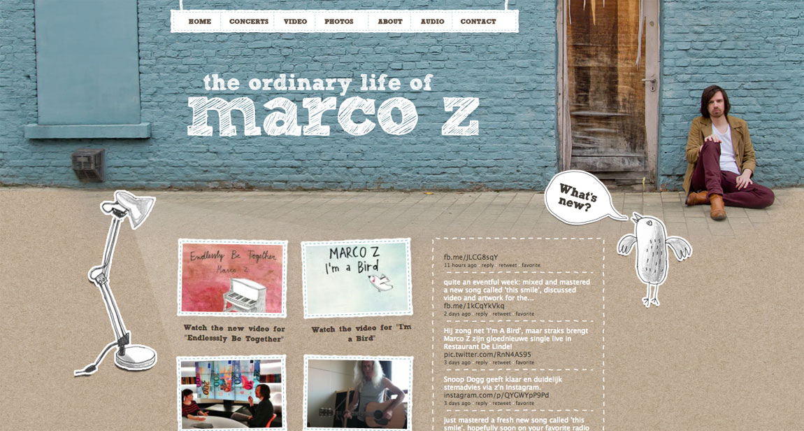 Marco Z Website Screenshot