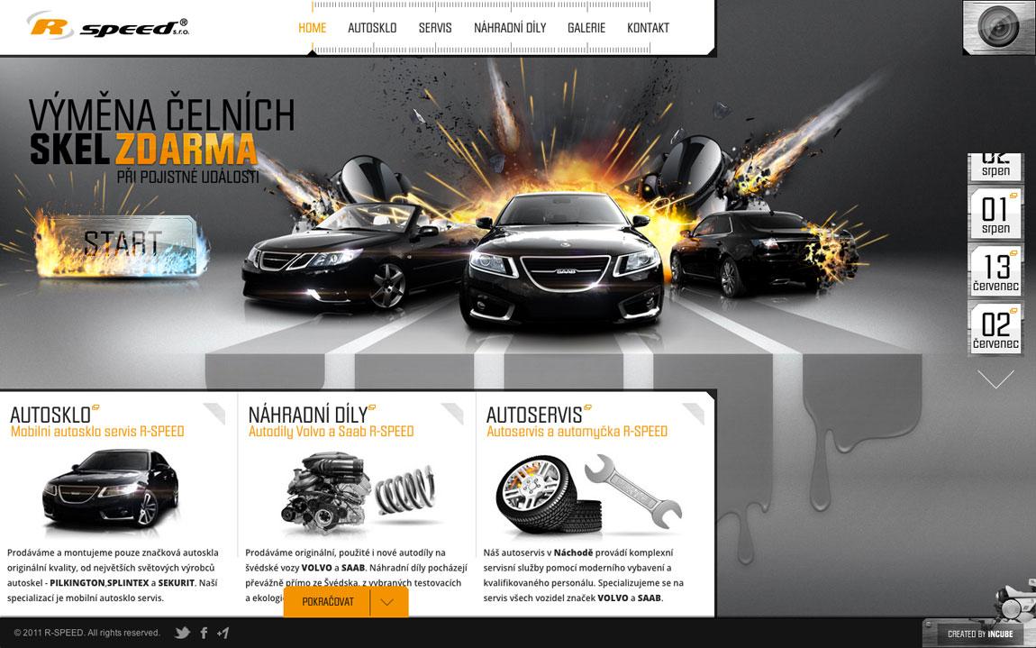 R-SPEED Website Screenshot