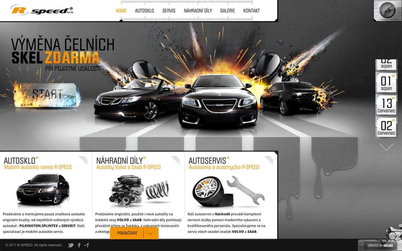 R-SPEED Website Screenshot