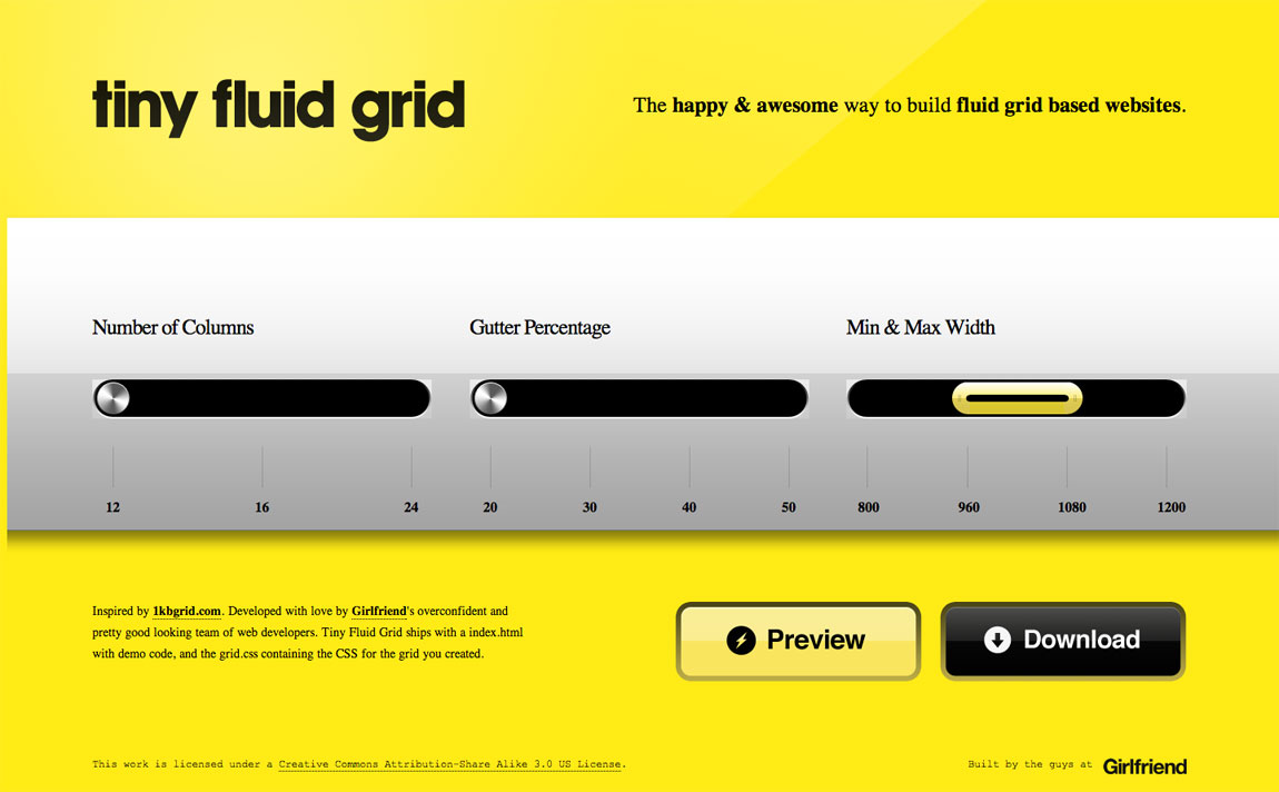 Tiny Fluid Grid Website Screenshot