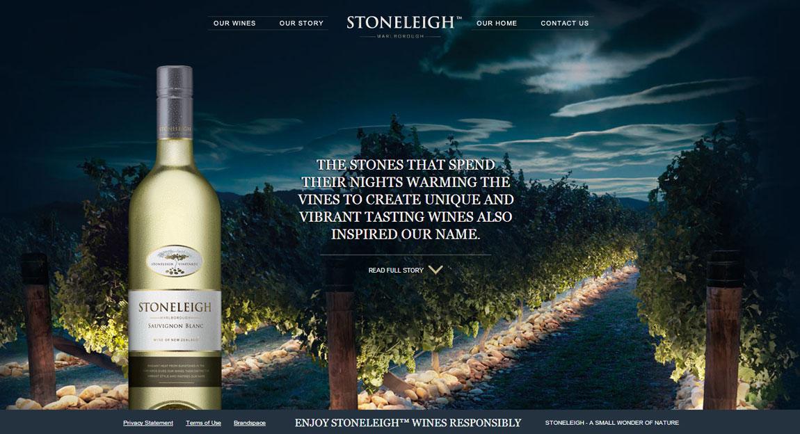 Stoneleigh Wines Website Screenshot
