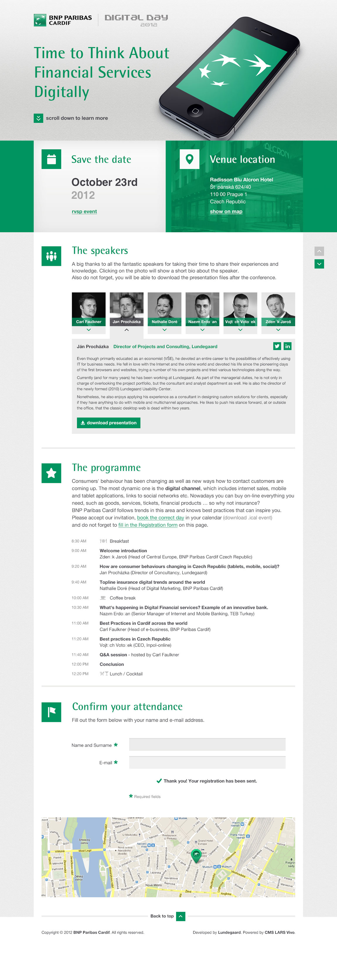 Digital Day 2012 | Cardif Website Screenshot