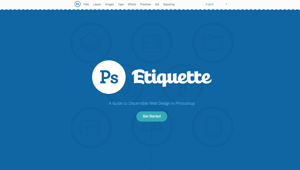 Photoshop Etiquette Website Screenshot