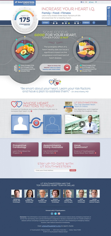 UTSW Heart IQ Website Screenshot