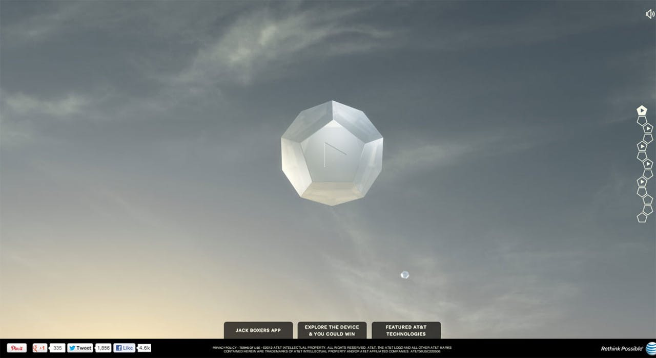 Daybreak 2012 Website Screenshot