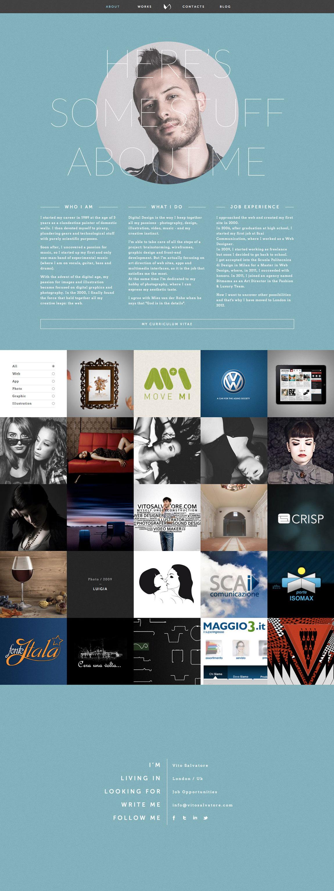 Vito Salvatore Website Screenshot