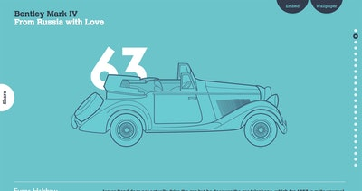 BOND: 007 Cars Evolution Thumbnail Preview