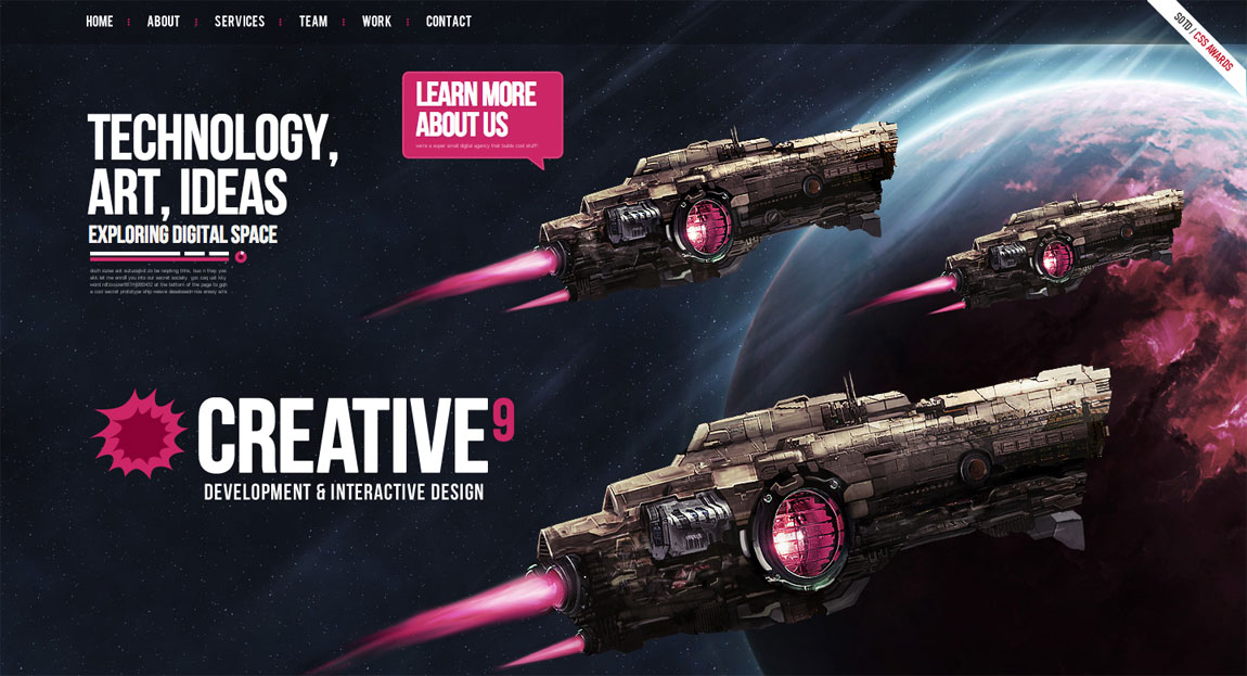 Creative9 Website Screenshot