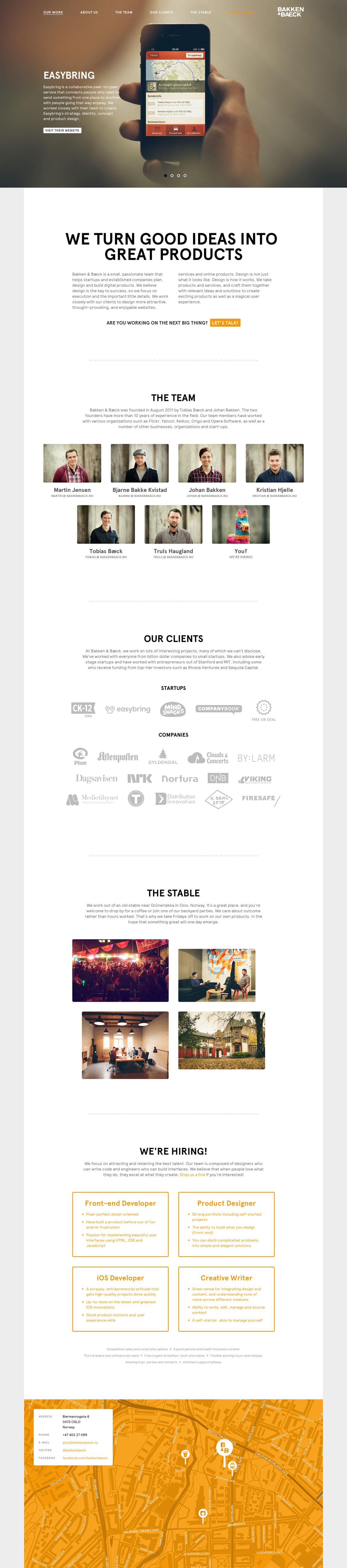 Bakken & Bæck Website Screenshot