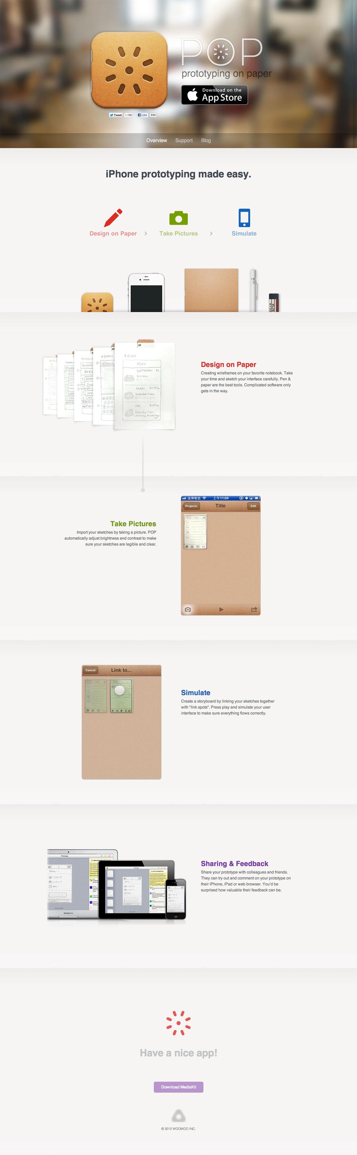 Prototyping on Paper App Website Screenshot