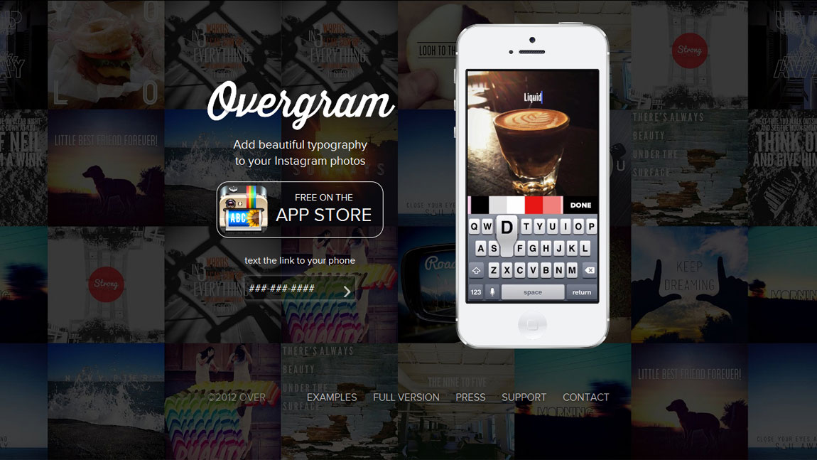 Overgram Website Screenshot