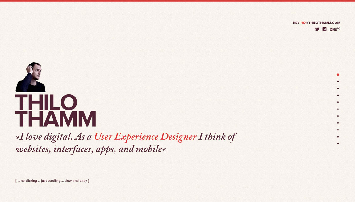 Thilo Thamm Website Screenshot