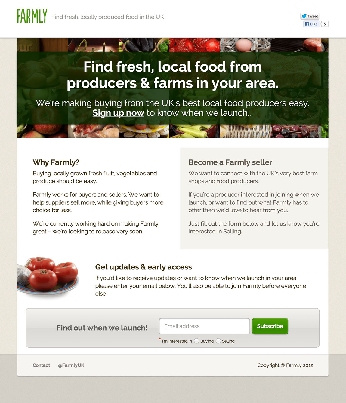 Farmly Website Screenshot