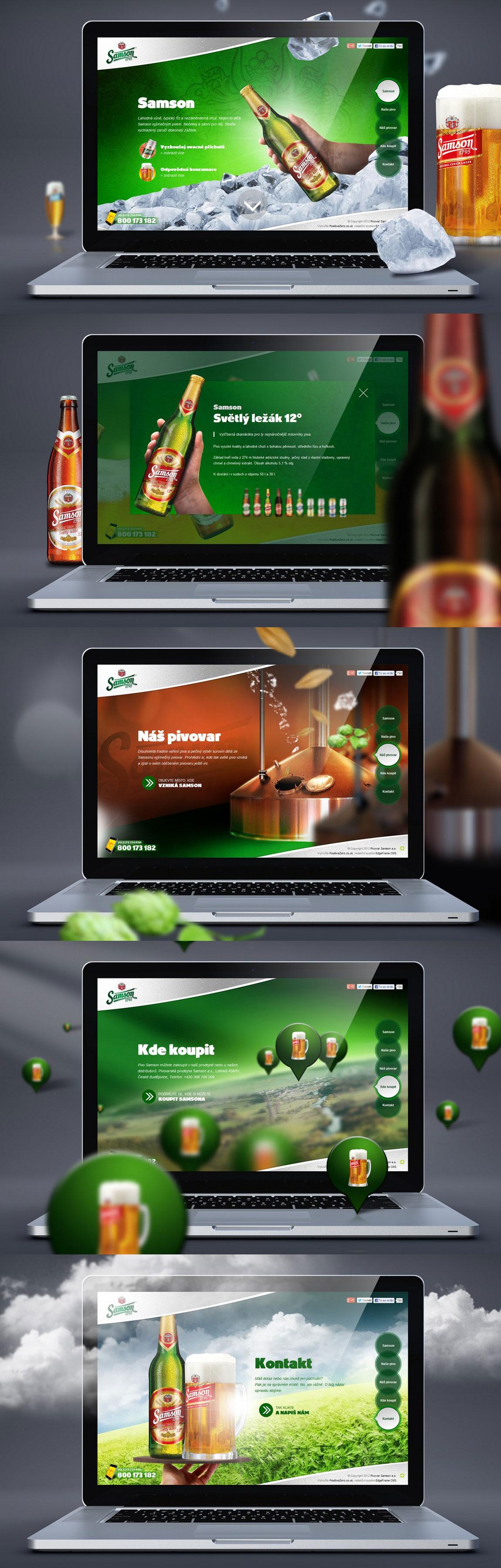 Samson Brewery Website Screenshot