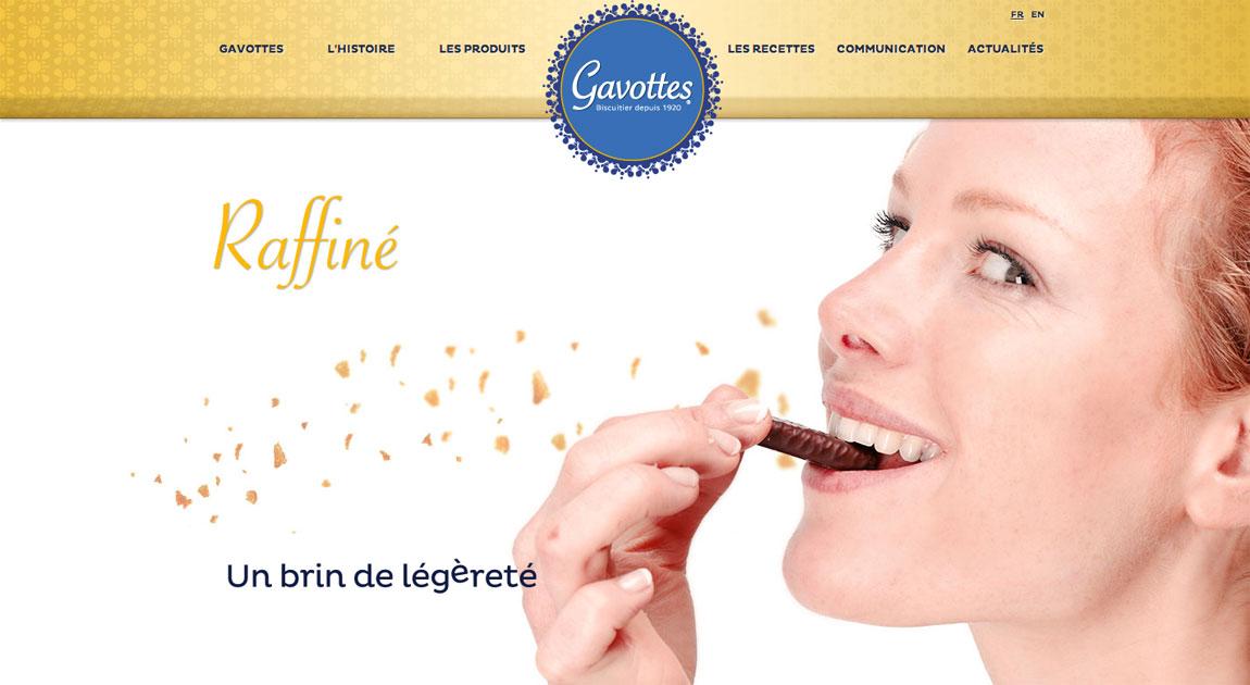Gavottes Website Screenshot