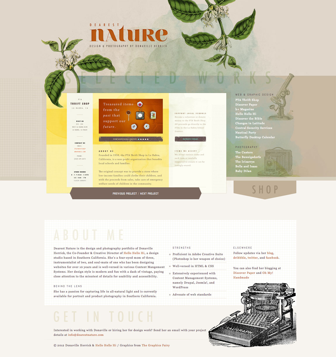 Dearest Nature Website Screenshot