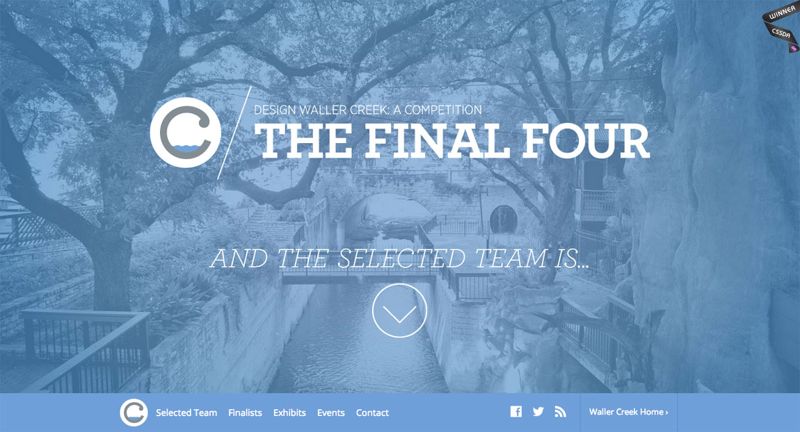 Waller Creek Final Four Website Screenshot
