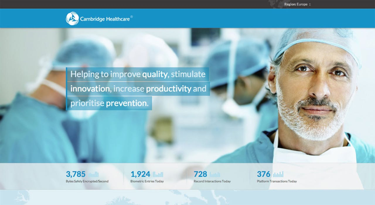 Cambridge Healthcare Website Screenshot