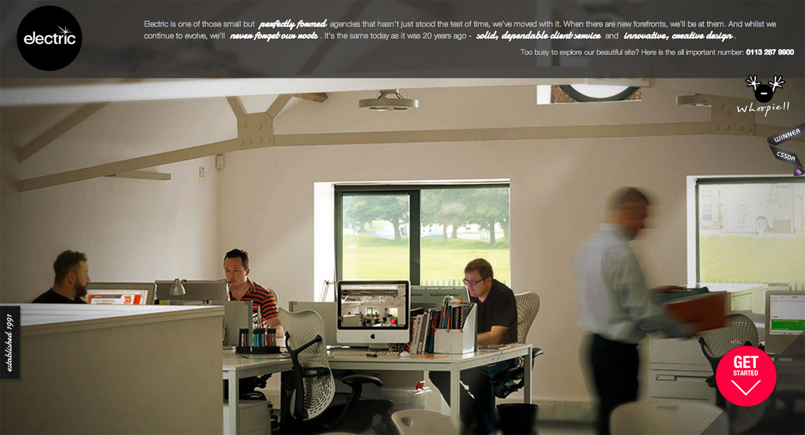 Electric Design Website Screenshot