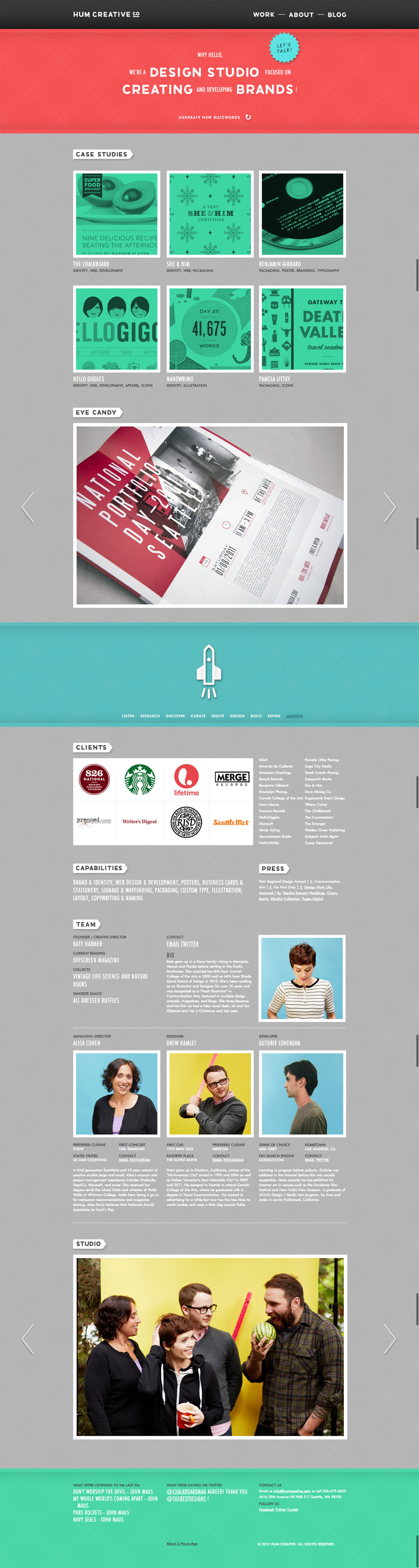 Hum Creative Co Website Screenshot