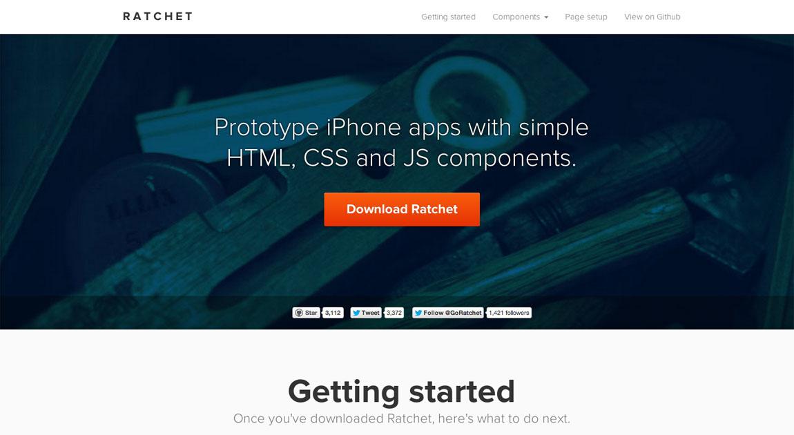 Ratchet Website Screenshot