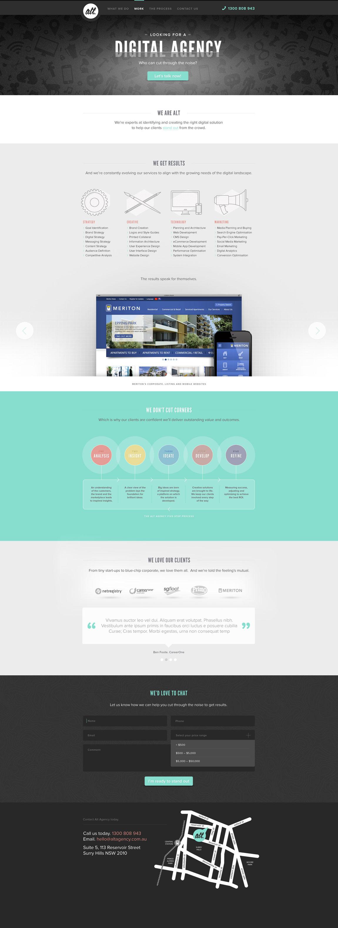 Alt Agency Website Screenshot
