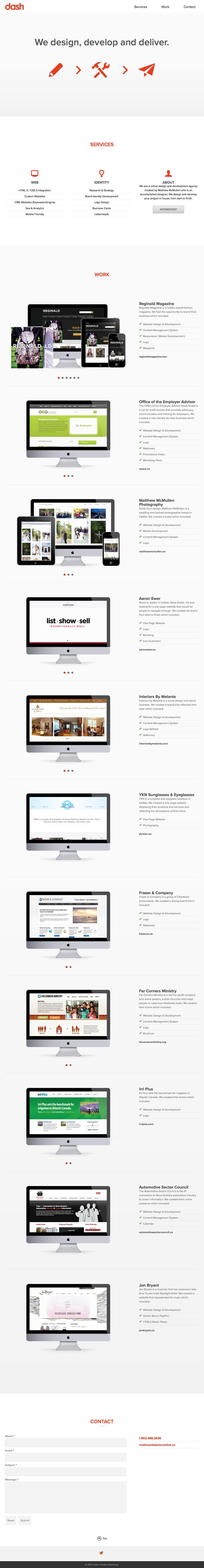 Dash – Creative Branding Website Screenshot