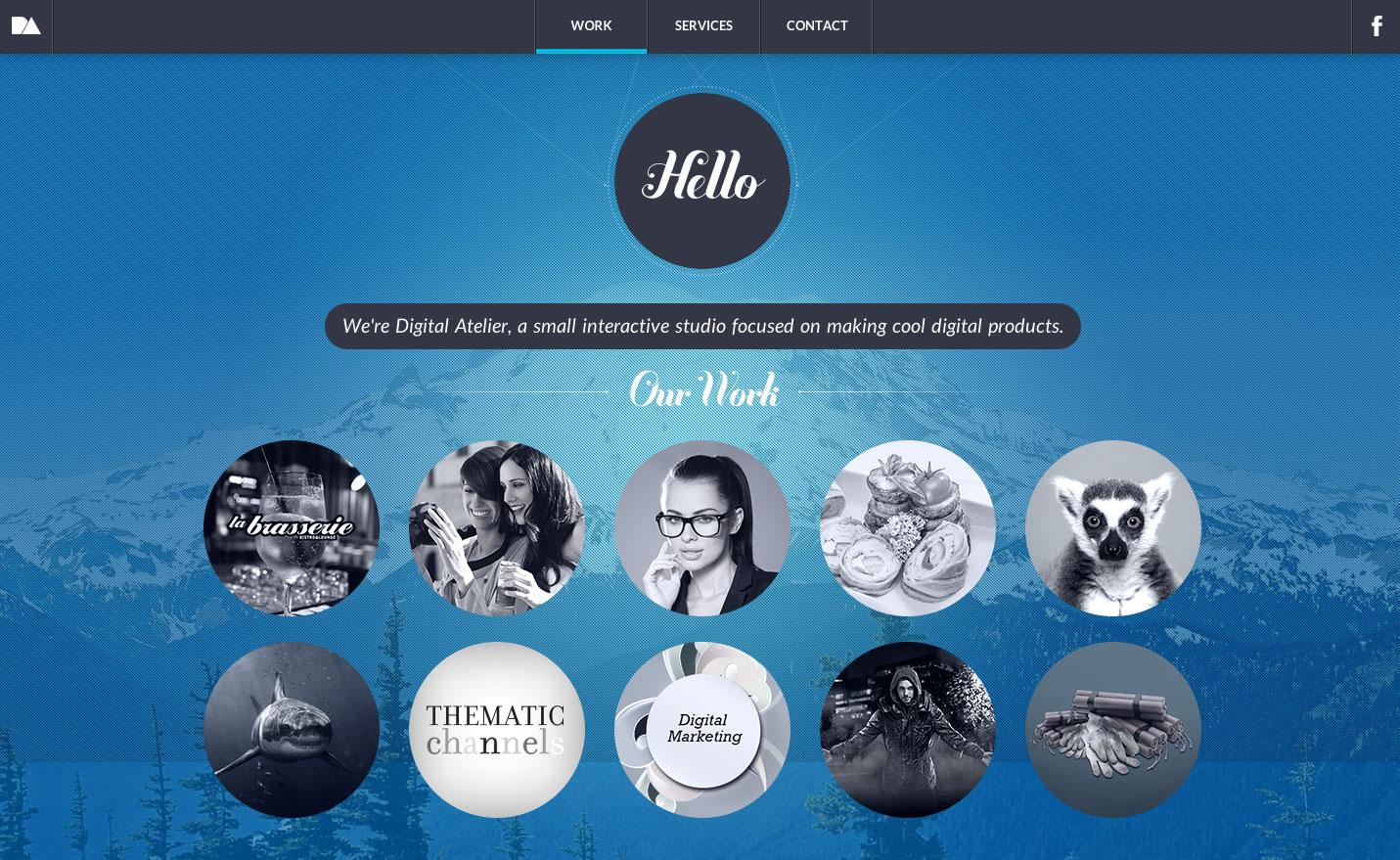 Digital Atelier Website Screenshot