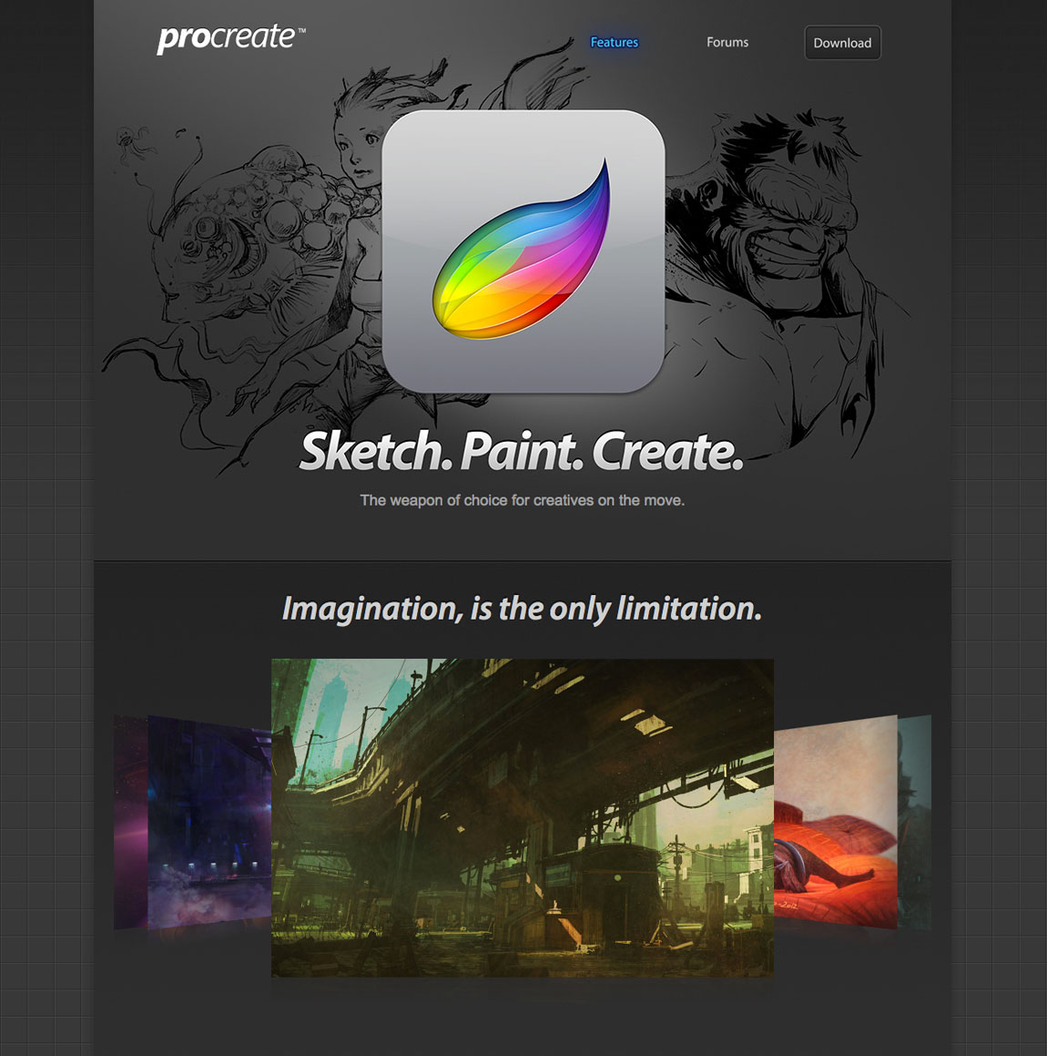 Procreate Website Screenshot