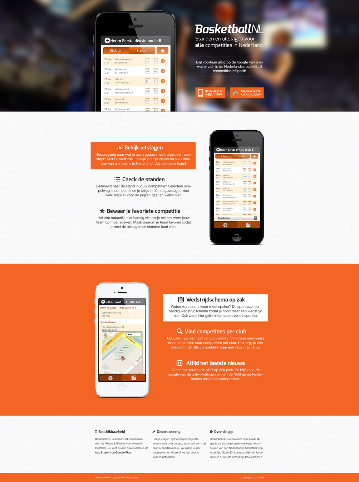 BasketballNL Website Screenshot