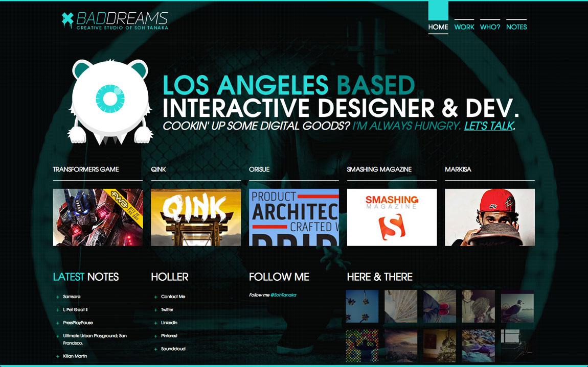 Bad Dreams Website Screenshot