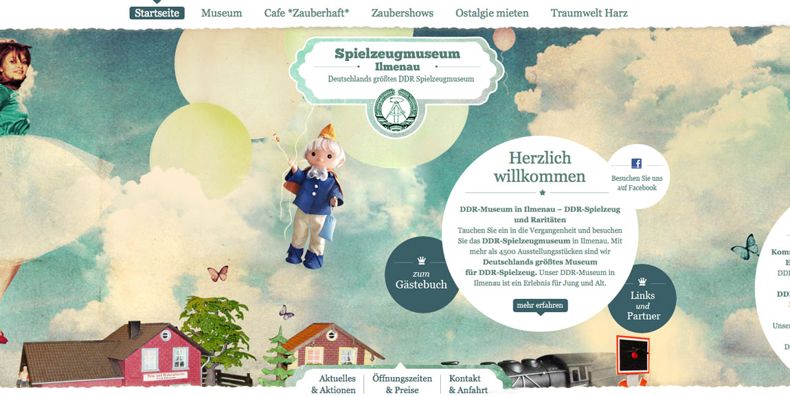 Spielzeugmuseum Website Screenshot