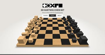 3D CSS Hartwig chess set Thumbnail Preview