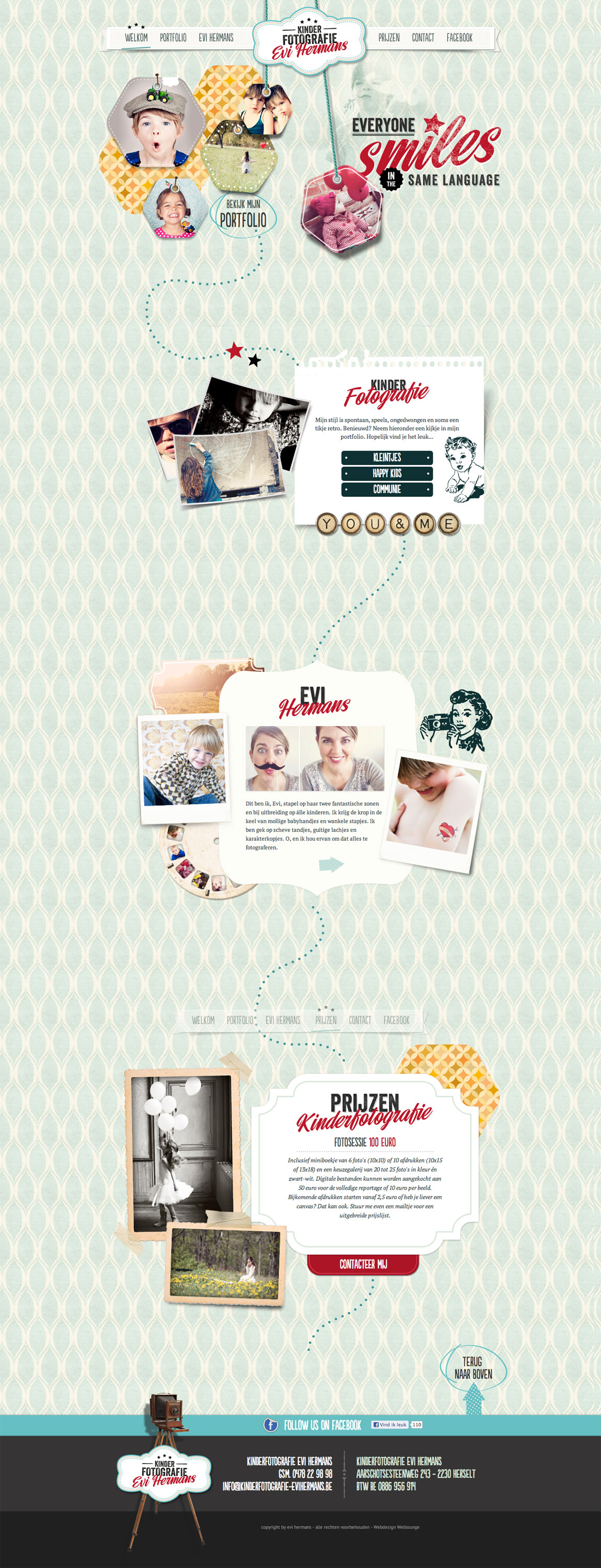 Kinderfotografie Evi Hermans Website Screenshot