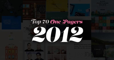 The 70 Most Loved One Page Websites from 2012