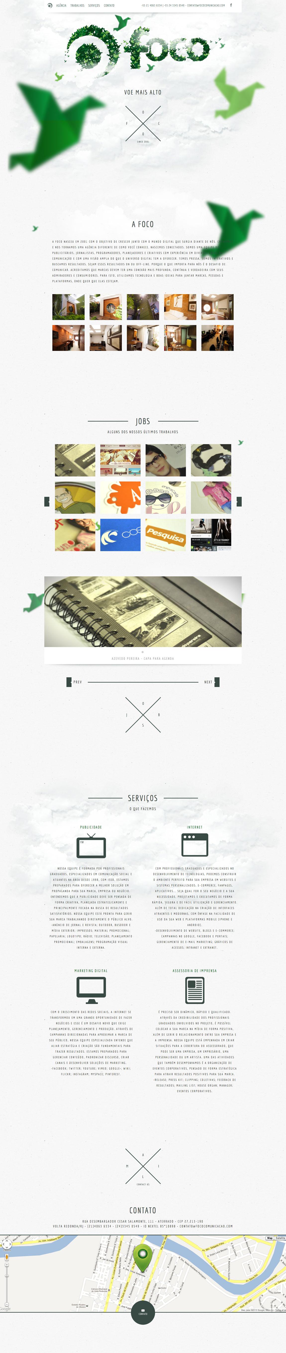 Foco Comunicação Website Screenshot