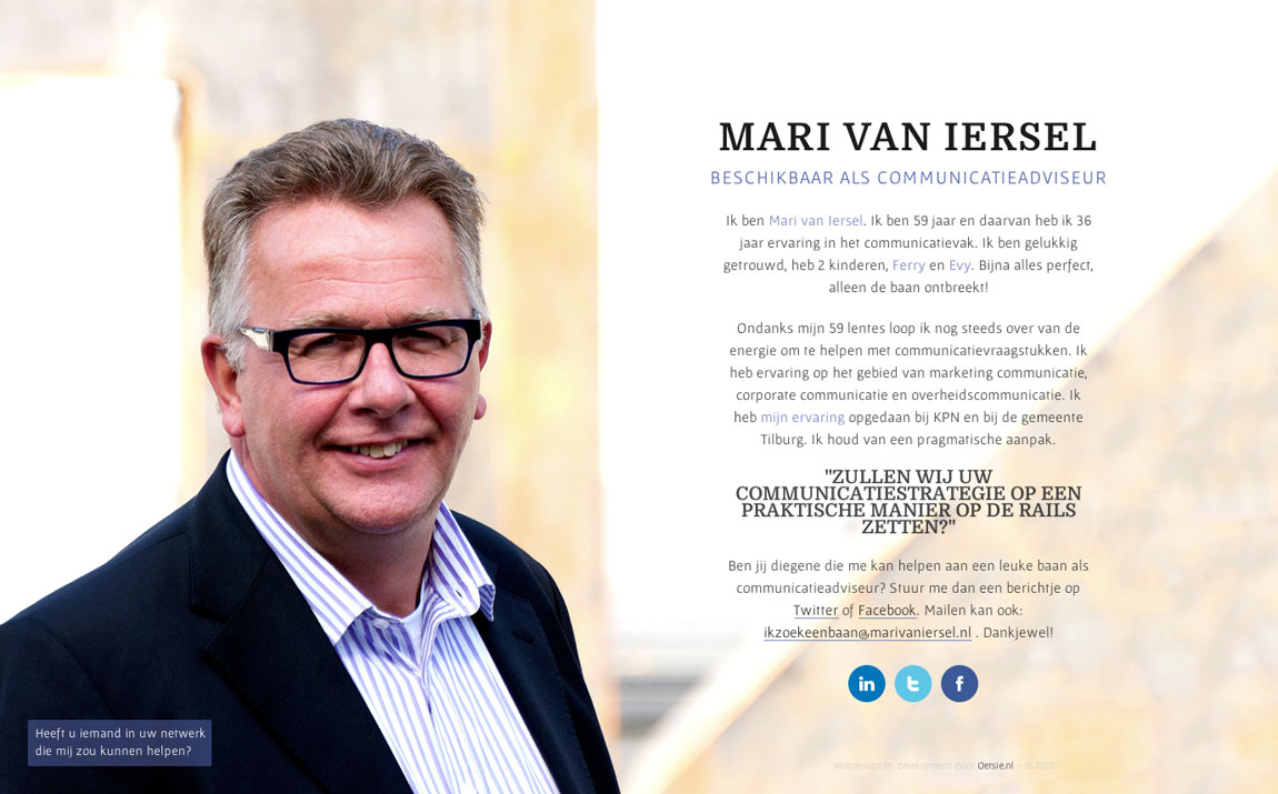 Mari van Iersel Website Screenshot