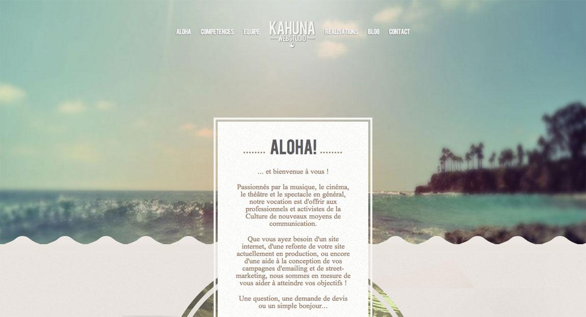 Kahuna Webstudio Website Screenshot