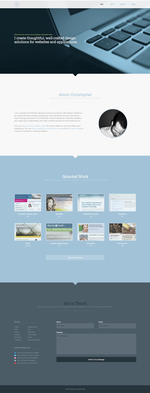 Christopher Ware Website Screenshot