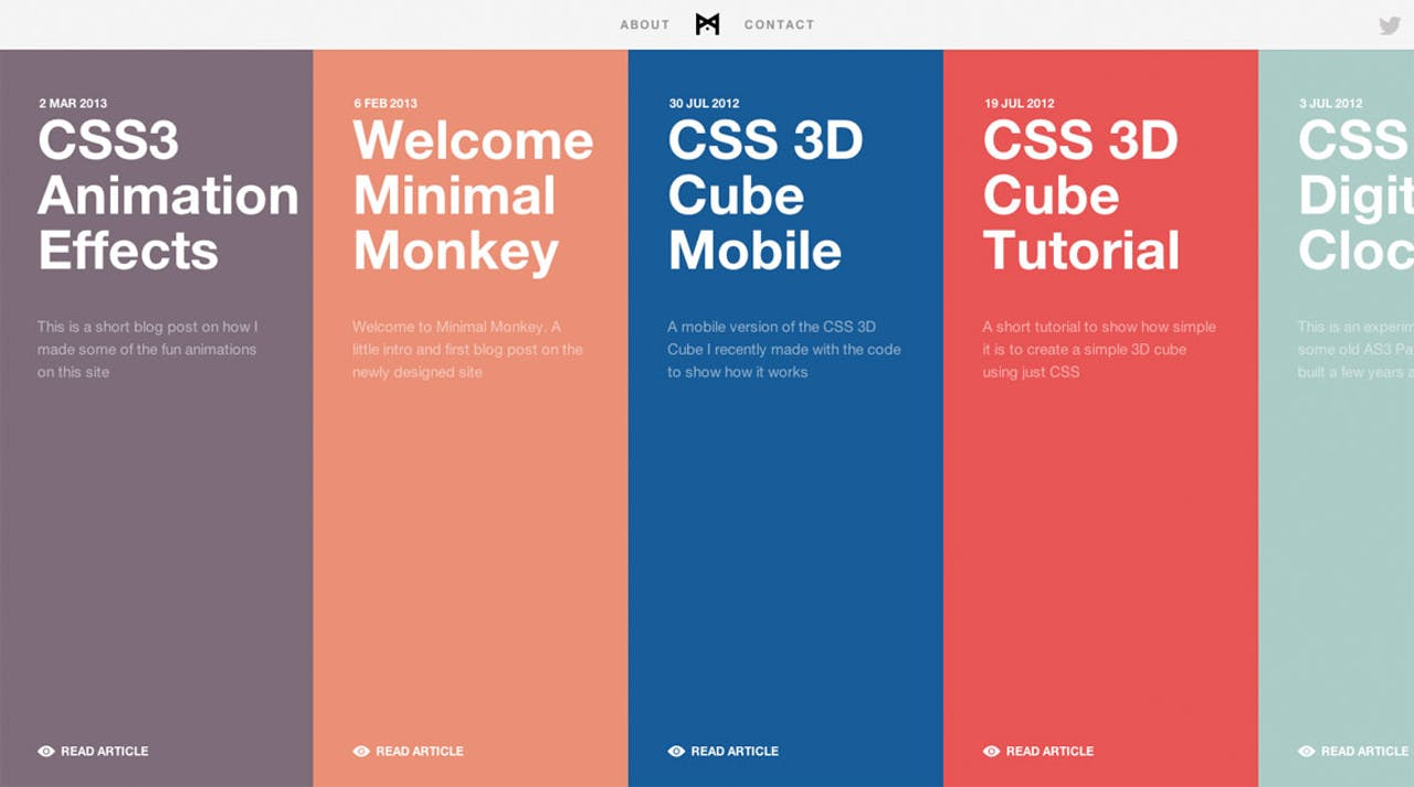 Minimal Monkey Website Screenshot