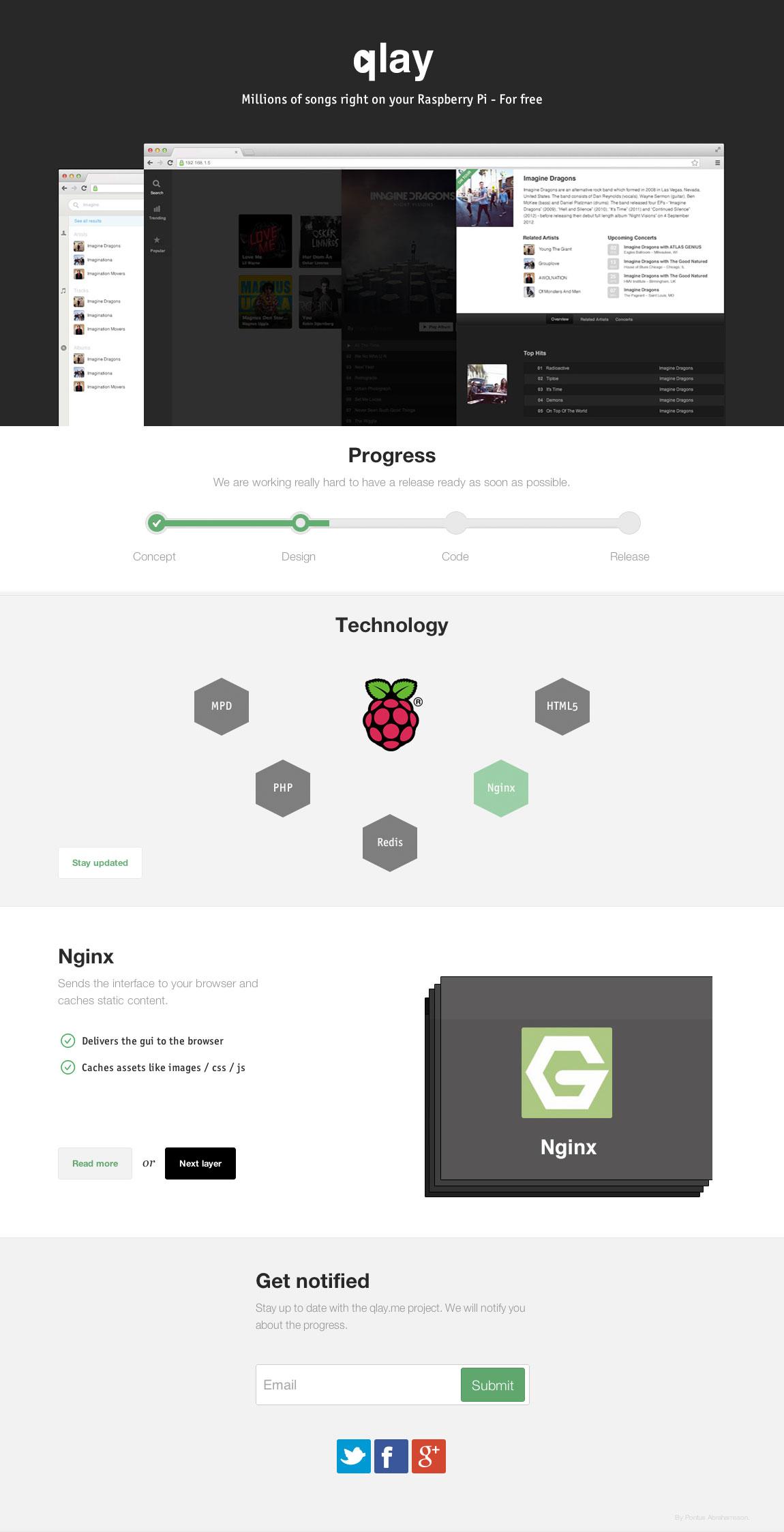 Qlay.me App Website Screenshot