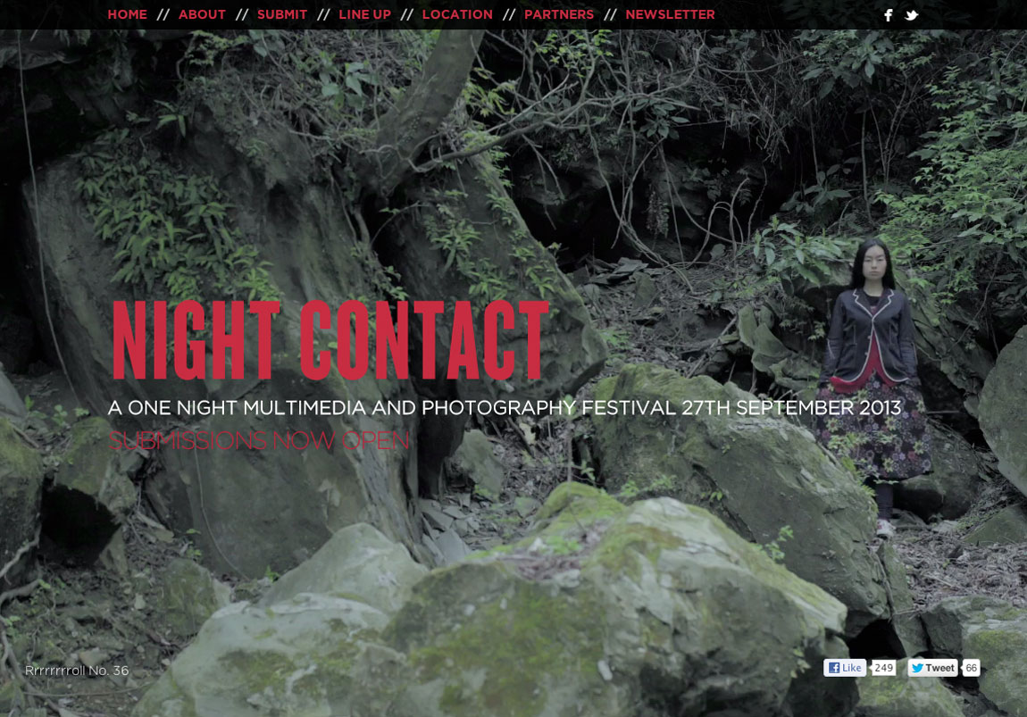 Night Contact Website Screenshot
