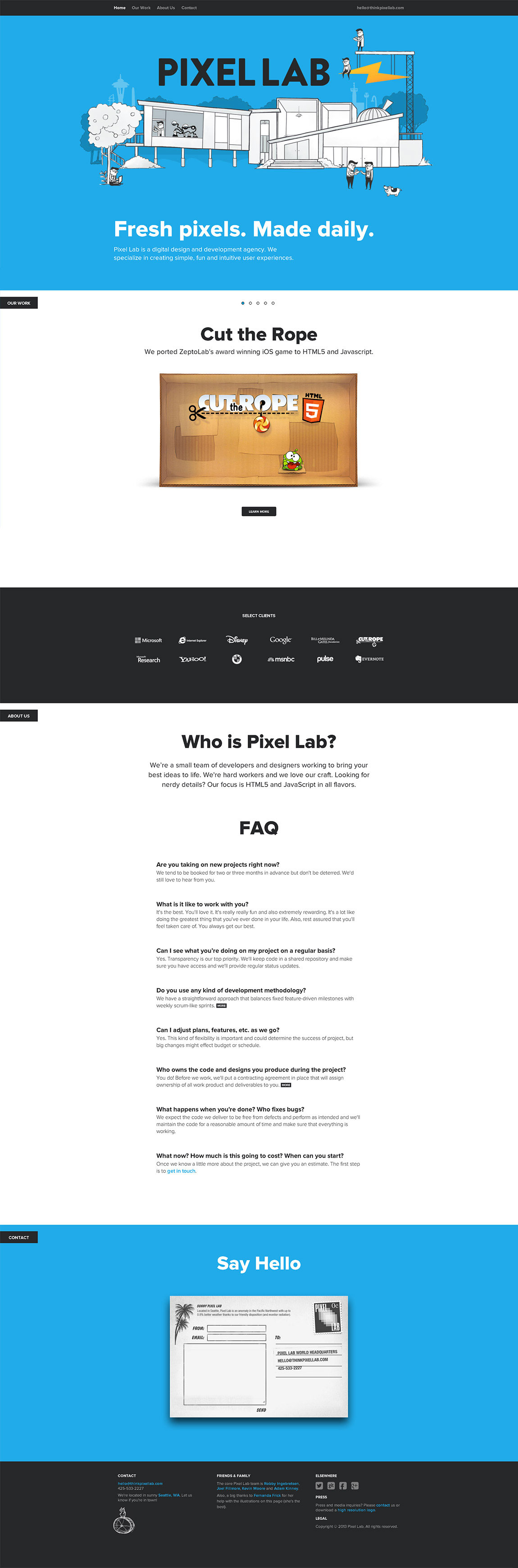 Pixel Lab Website Screenshot