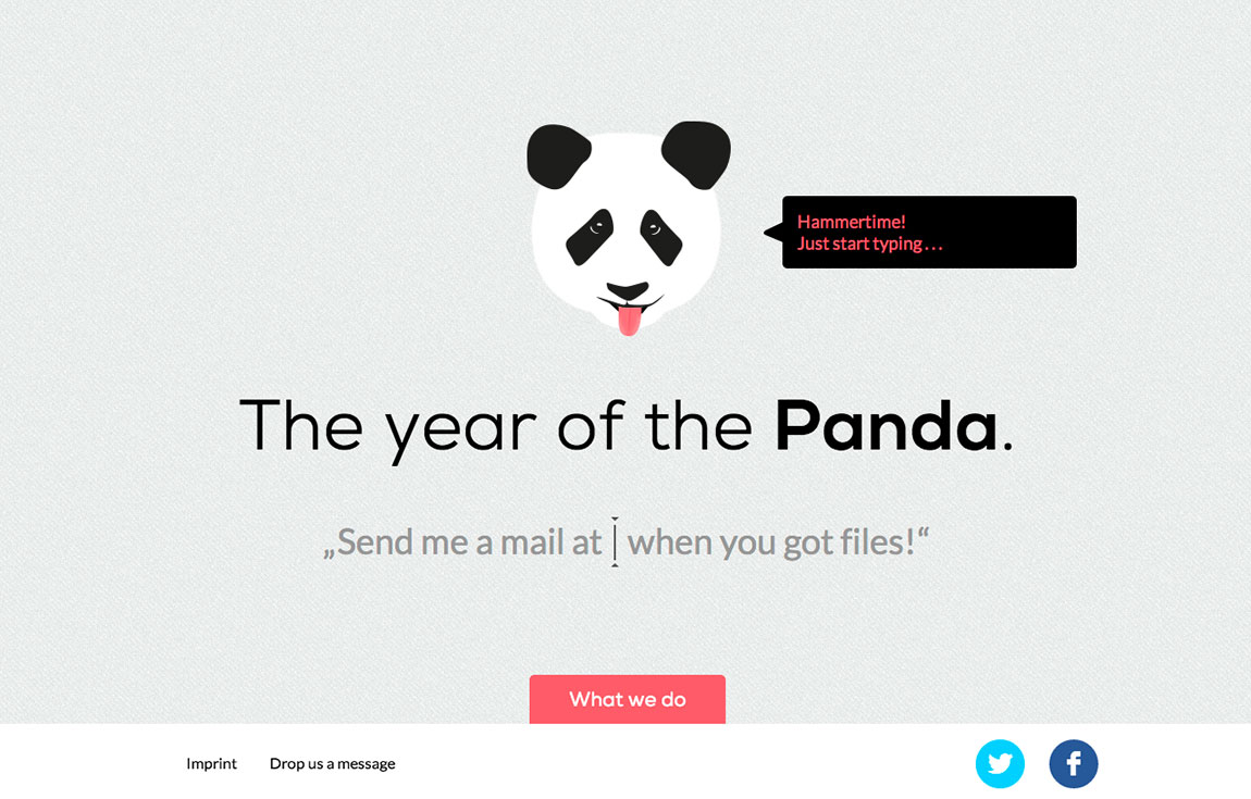 Panda Got Files Website Screenshot