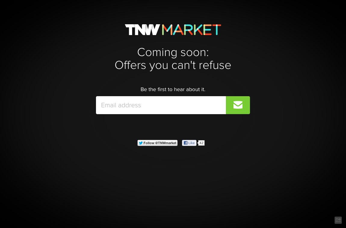 TNW Market Website Screenshot