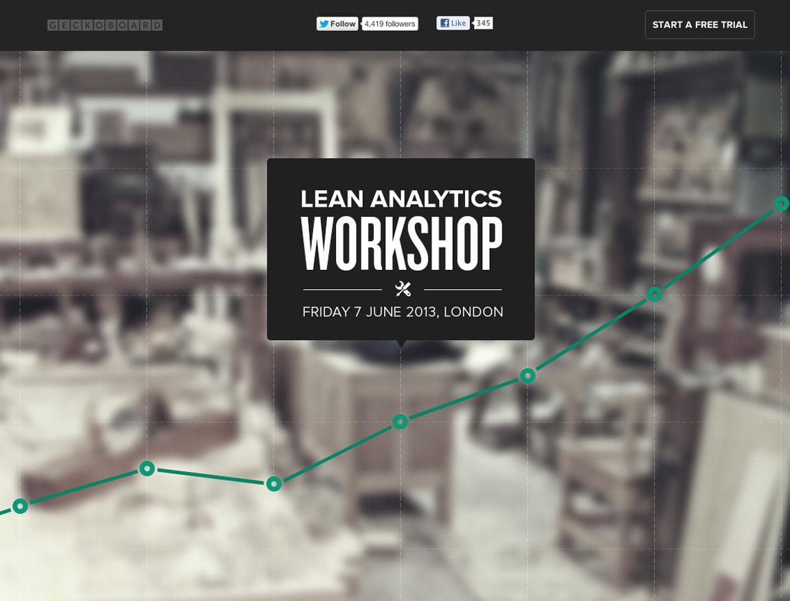 Lean Analytics Workshop Website Screenshot