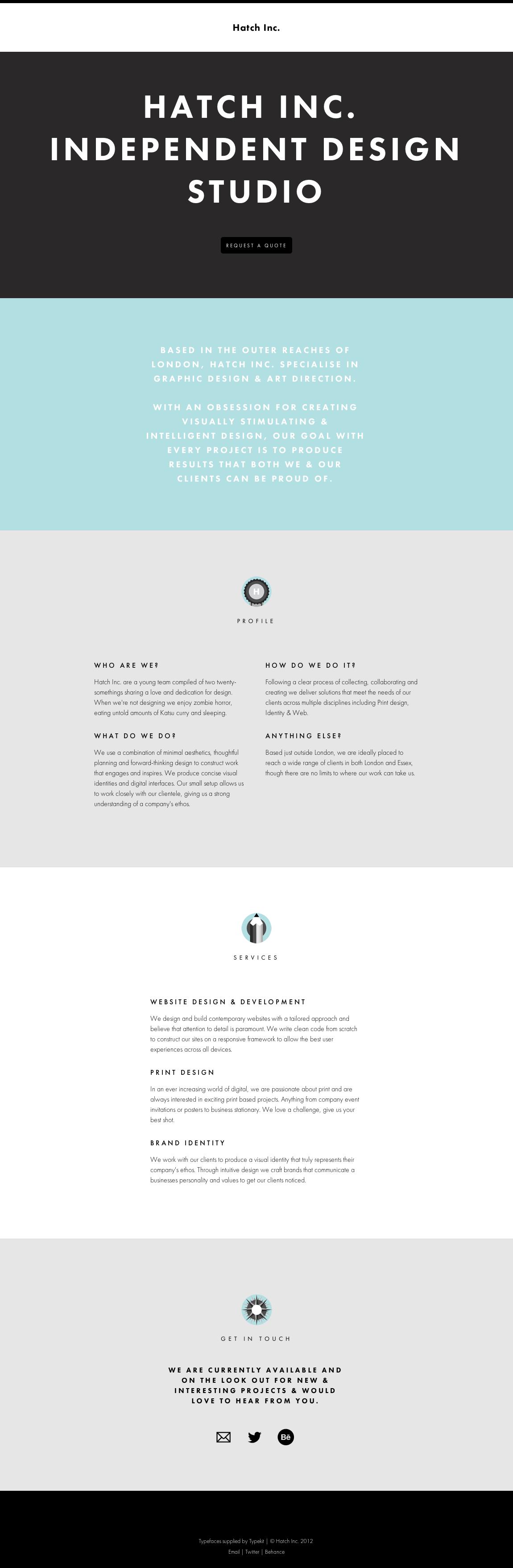 Hatch Inc. Website Screenshot