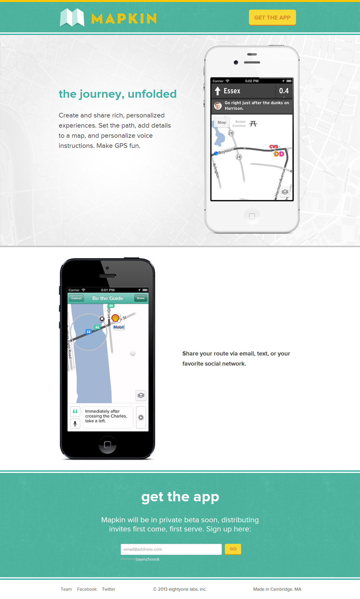 Mapkin Website Screenshot