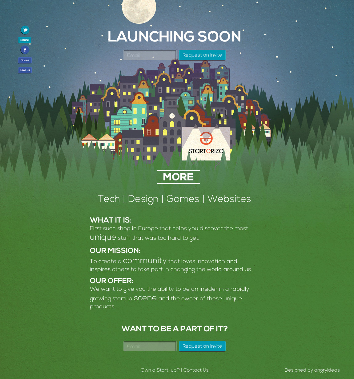 Starterize Website Screenshot