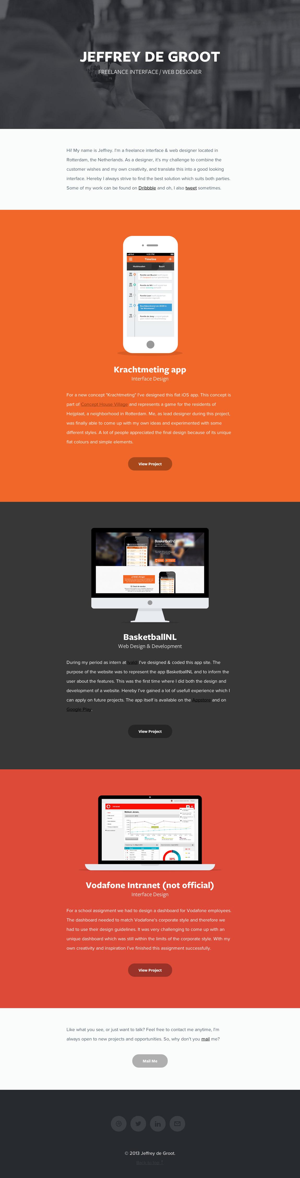 Jeffrey de Groot Website Screenshot